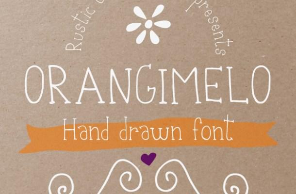Orangimelo Hand Drawn Font