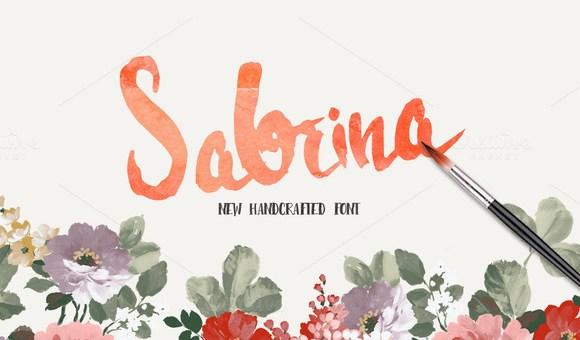 Sabrina Handmade Font
