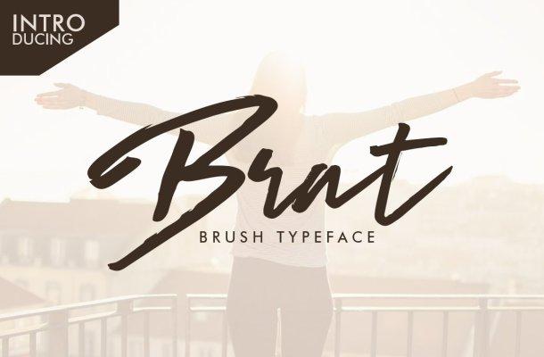 Brat Brush Typeface