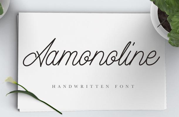 Aamonoline Script Font