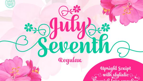 July Seventh Font