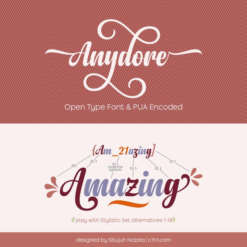 anydore-script-font
