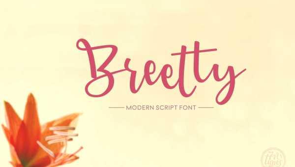 Breetty Script Font