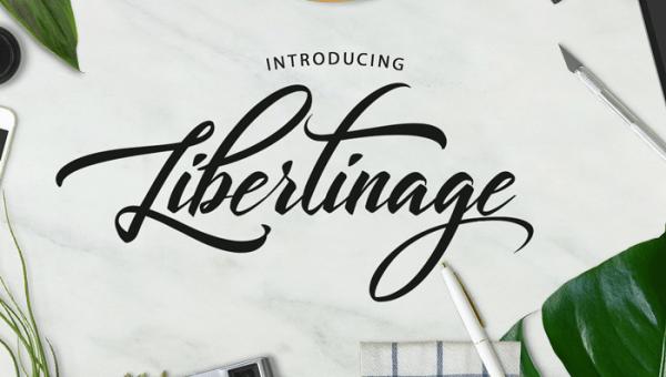 Libertinage Script Font