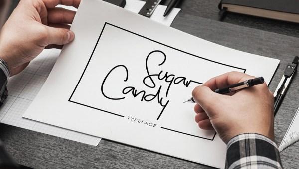 Sugar Candy Signature Font