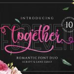 Forever Together Romantic Font Duo