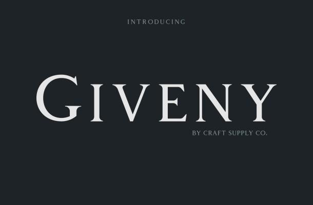 Giveny Serif Font