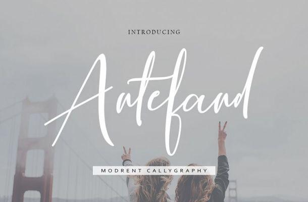 Antefand Script Font