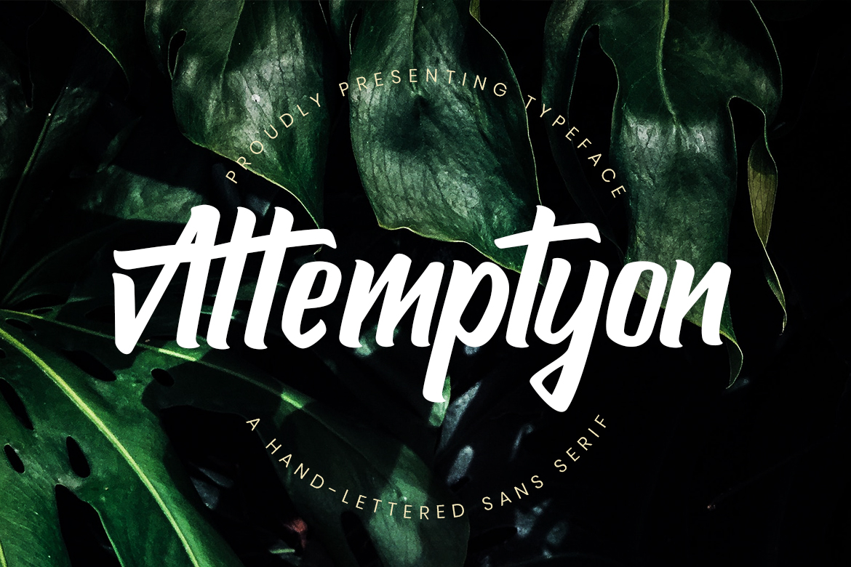 attemptyon-handwritten-font