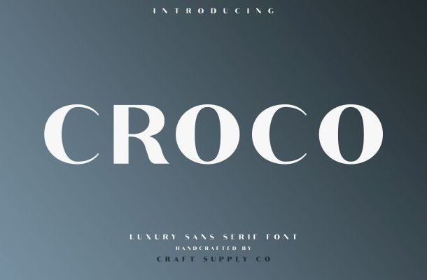 Croco Sans Serif Font