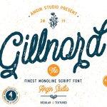 Gillnord Script Font