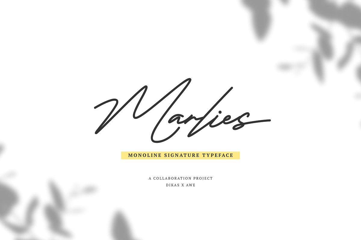 marlies-signature-font