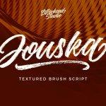 Jouska Rough Brush Font