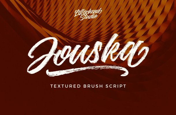 Jouska Rough Brush Font