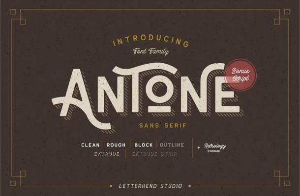 Free Antone Display Vintage Font