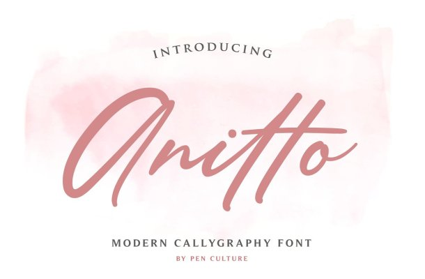 Anitto Calligraphy Font