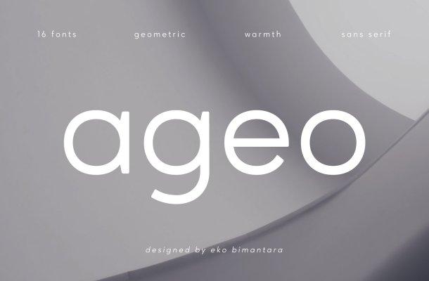 Ageo Geometric Sans Font Family