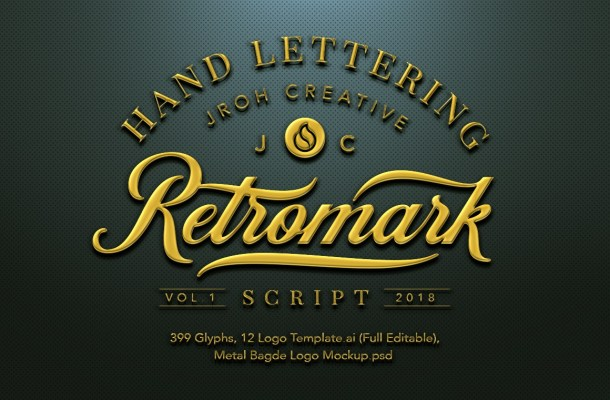 Retromark Script Font