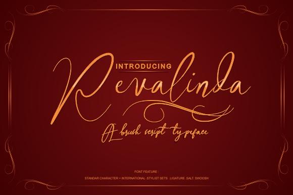 Revalinda Brush Stylist font