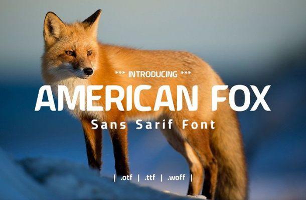 Free American Fox Font