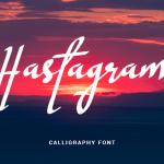 Hastagram Calligraphy Font