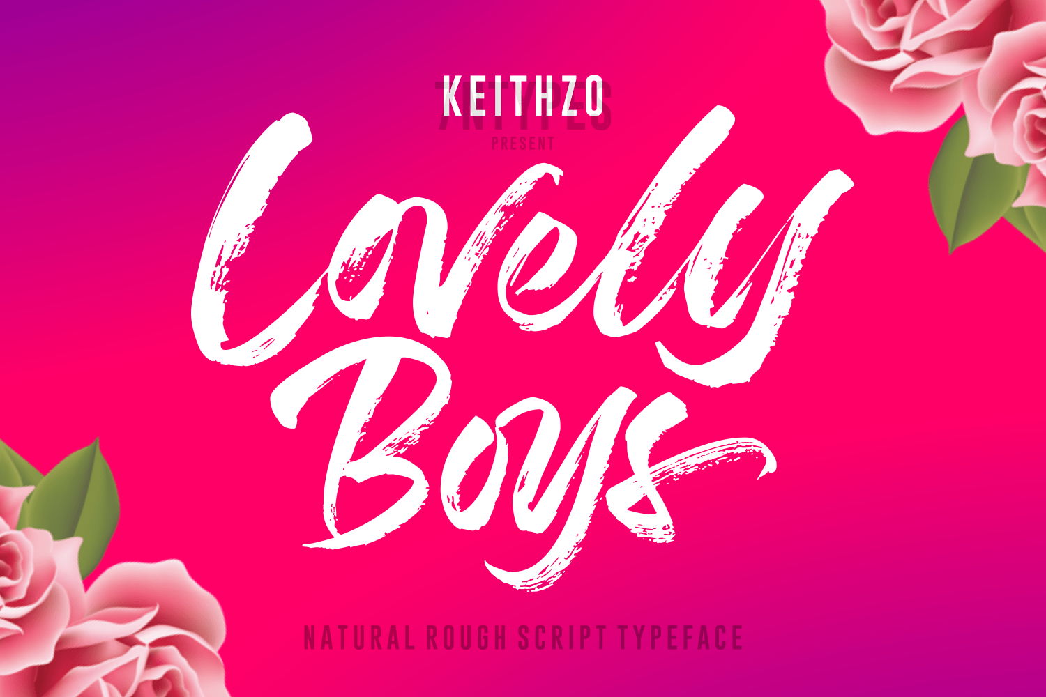 Lovely Boys Font by 7NTypes_1