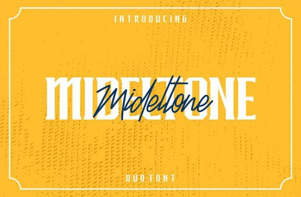 Free Mideltone Font Duo