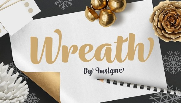 Wreath Font Family