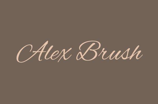 Free Alex Brush Font