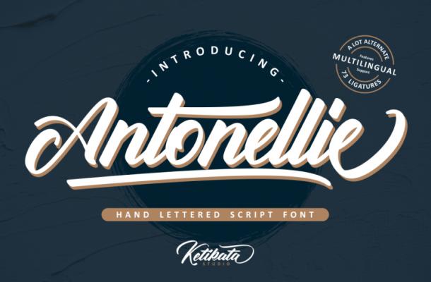 Antonellie Calligraphy Font