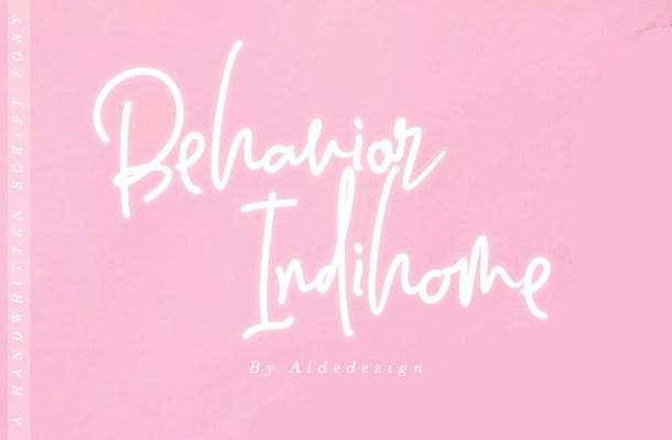 Behavior Indihome Signature Font