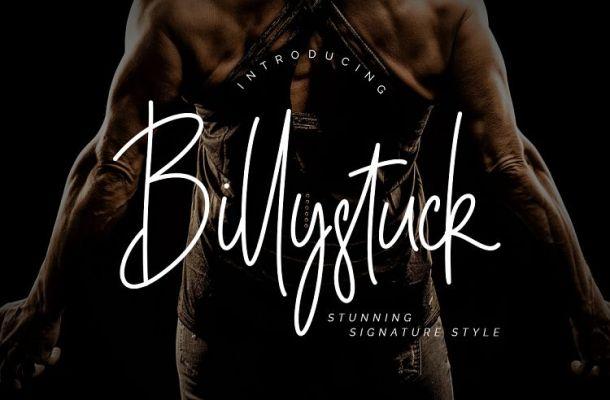 Billystuck Signature Font