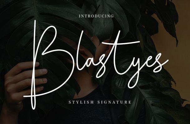Blastyes Signature Font