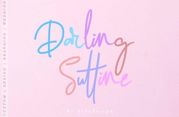 Darling Suttine Signature Font