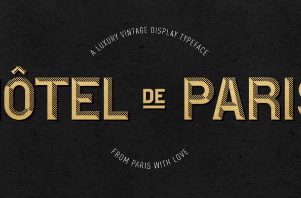 Hotel De Paris Script Font