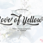 Love of Yellow Font