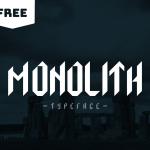 Monolith Display Typeface