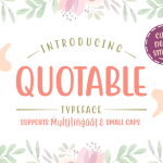 Quotable Display Font