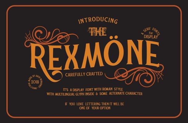 Rexmone Font