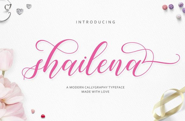 Shailena Script Font