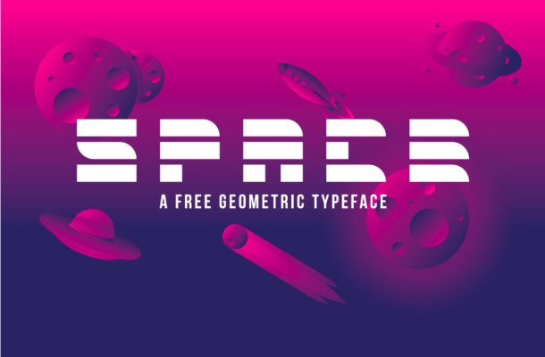 Free Futuristic Space Display Font