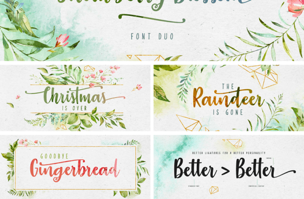 Free Strawberry Blossom Brush Font