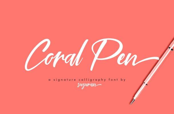 Coral Pen Script Font