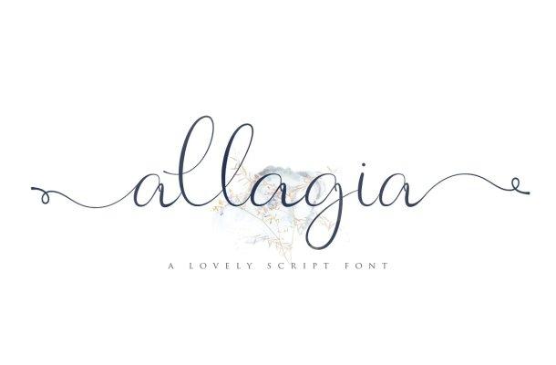 Allagia Script Font