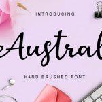 Austral Script Font