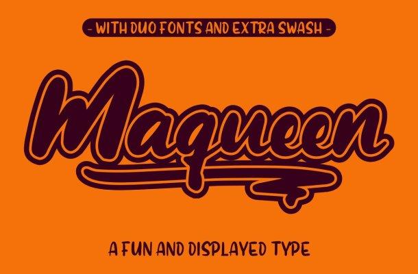 Maqueen Display Font