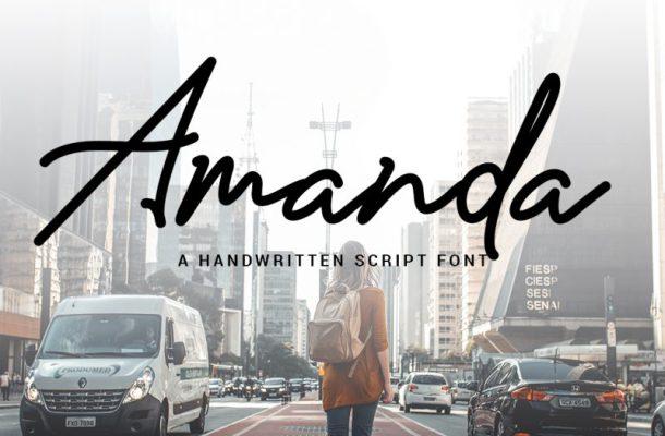 Amanda Signature Font