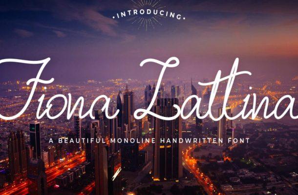 Fiona Lattina Handwritten Font
