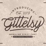 Gittelsy Monoline Script Font