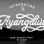 Ayangduit Script Font